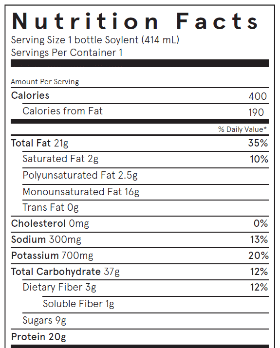 Soylent Review Nutrition Facts Ingredients Price Amp Taste